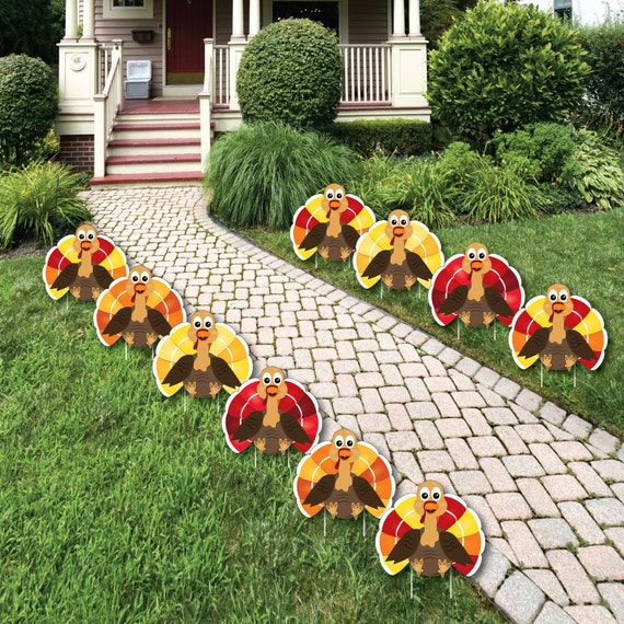 Thanksgiving Turkey Shaped Lawn Decorations Outdoor