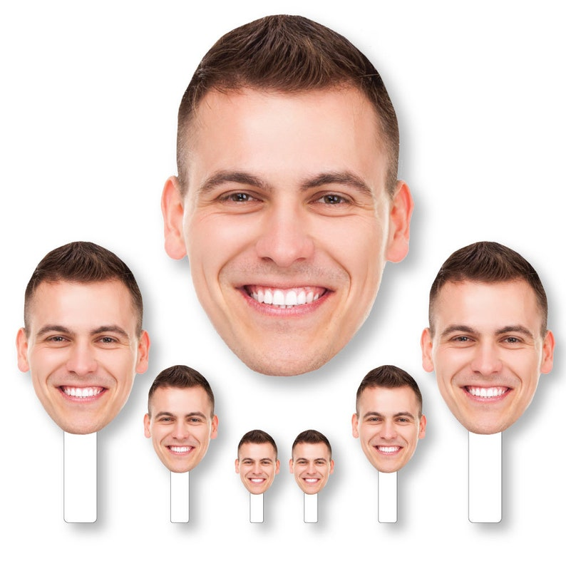 1 Photo Fun Face Cutout Kit Set of 7 Cut Outs Sports Face Custom Photo Head Cut Out Photo Booth and Fan Props Graduation