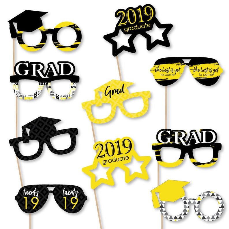 91824004832 Yellow Grad Best is Yet to Come Graduation Party Glasses