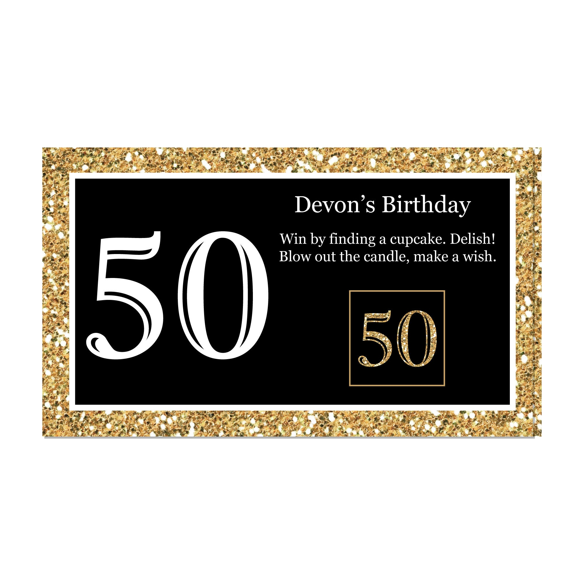50th Birthday Party Scratch Off Game Adult 50th Birthday