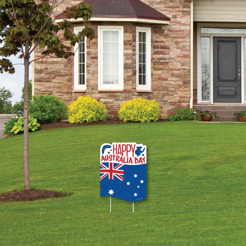 Outdoor Lawn Sign 1 Piece Australia Day G\u2019Day Mate Aussie Party Yard Sign