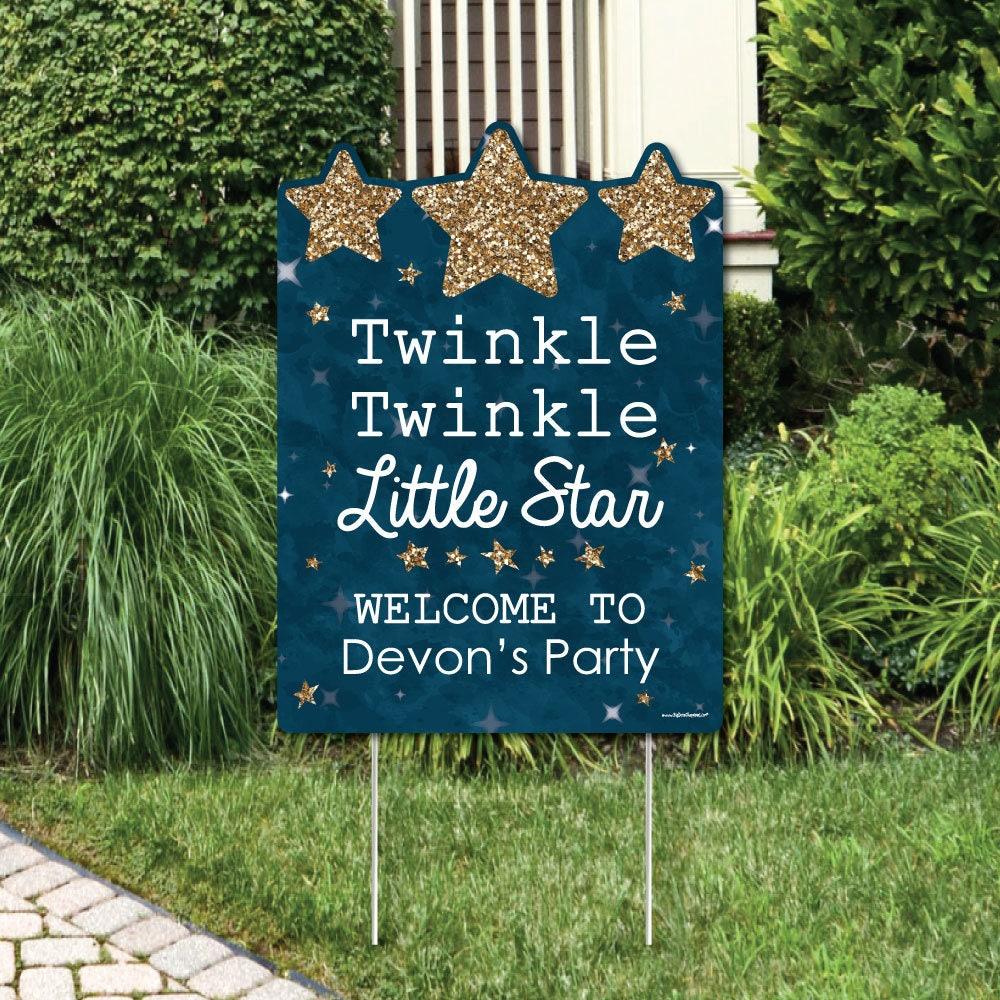 Backyard Twinkle Lights: Twinkle Twinkle Little Star Welcome Sign 1st Birthday