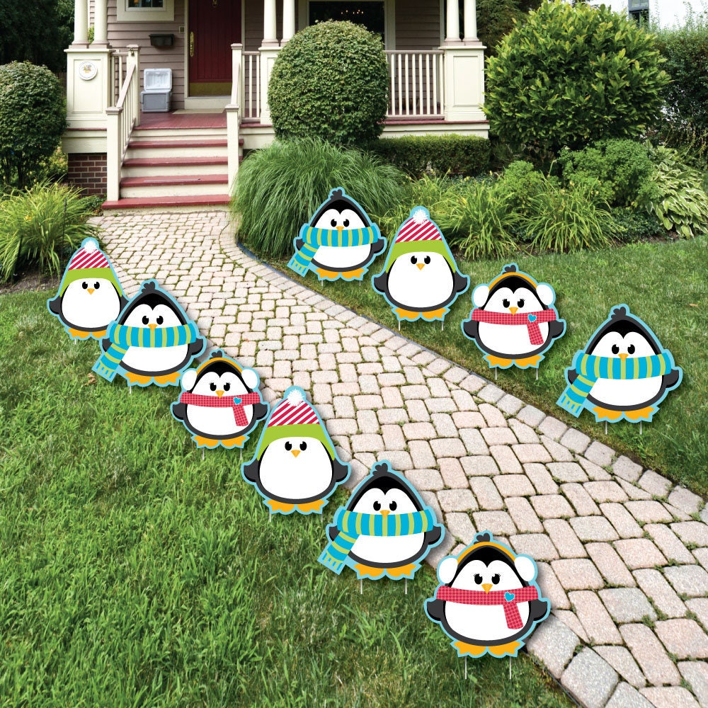 Holly Jolly Penguin Christmas Party Decorations Outdoor