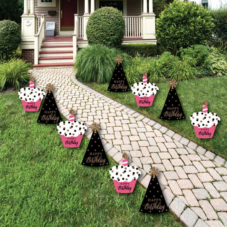 Happy Birthday Lawn Decorations Outdoor Party