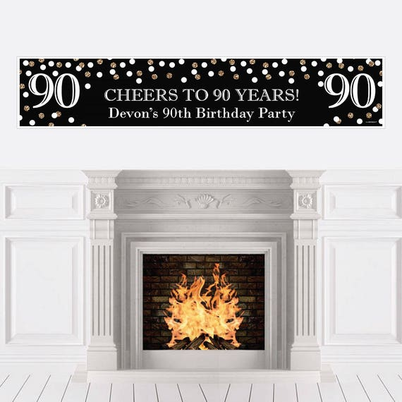 90th Birthday Party Banner