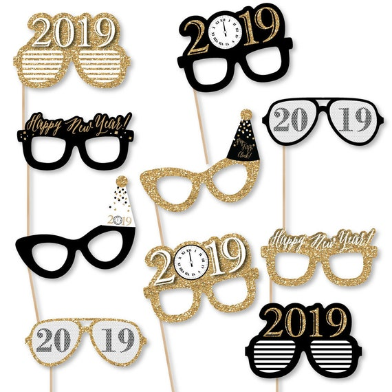 New Years Eve Photo Booth Props 2019 New Years Eve Etsy