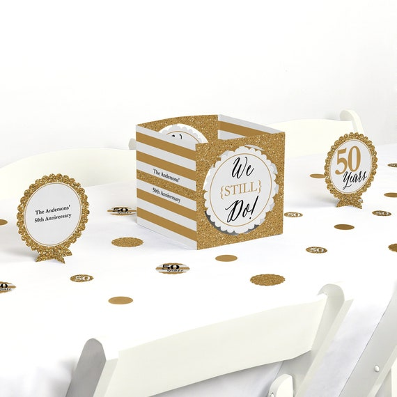 50th Wedding Anniversary Centerpiece Table Decoration Kit Etsy