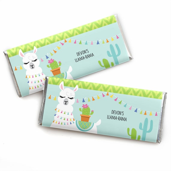 Whole Llama Fun Custom Candy Bar Wrappers Personalized Etsy