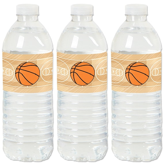 5d5610b8d1 Basketball - Water Bottle Sticker Labels - Waterproof Self Stick Labels - Baby  Shower & Birthday Party Favors - 20 Ct.