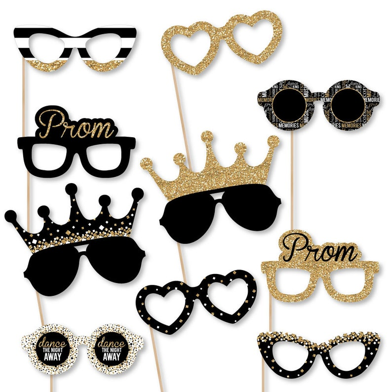 42da3b4adce Prom Prom Night Party Glasses Photo Booth Prop Accessories