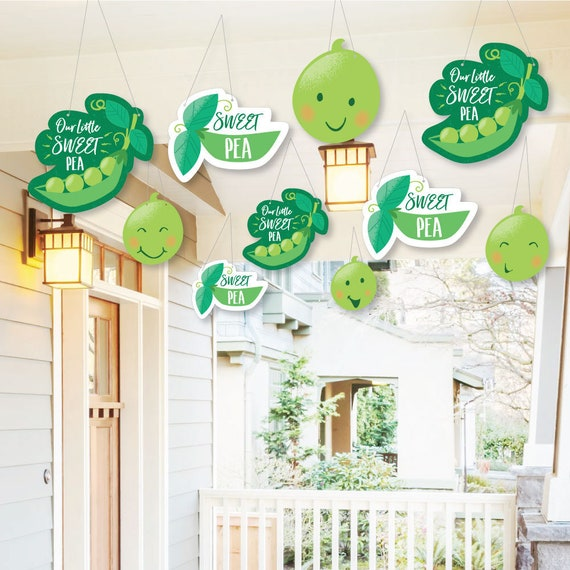 Sweet Pea In A Pod Hanging Porch Tree Yard Party Decorations