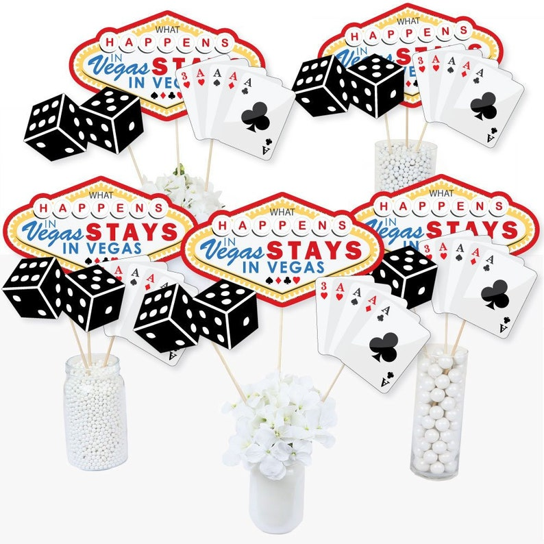 Las Vegas Casino Party Centerpiece Sticks