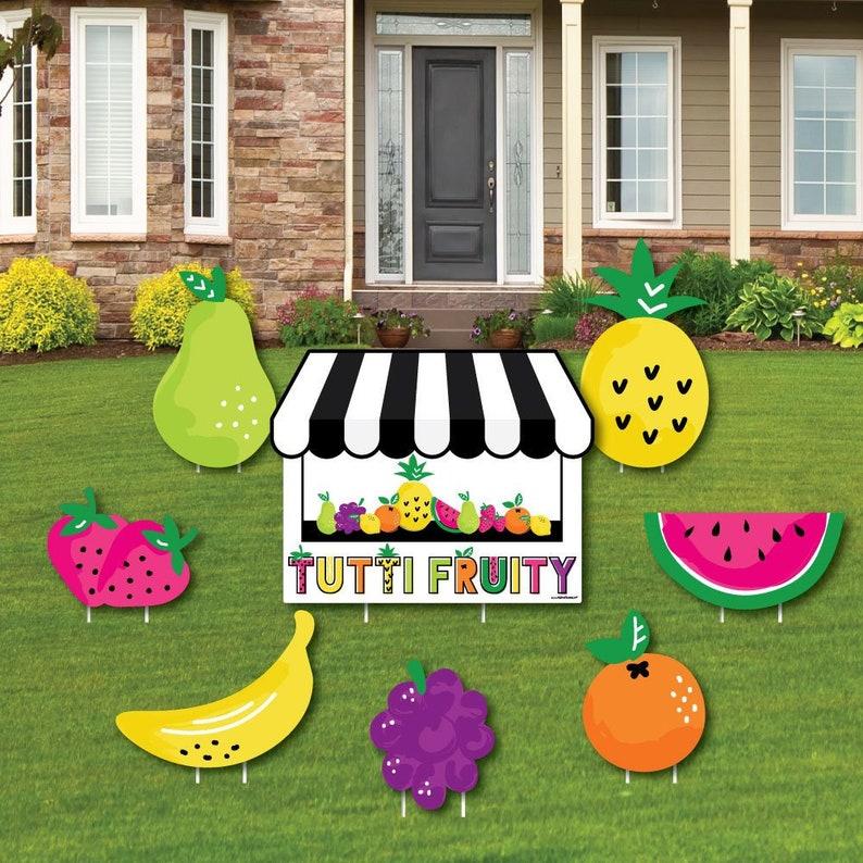 Tutti Fruity Shaped Lawn Decorations Frutti Summer Baby Etsy