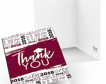 Maroon Grad - Best is Yet to Come - Graduation Party Thank You Cards - 2018 Graduation Thank You Cards - Maroon Grad Party Supplies - 24 Ct.