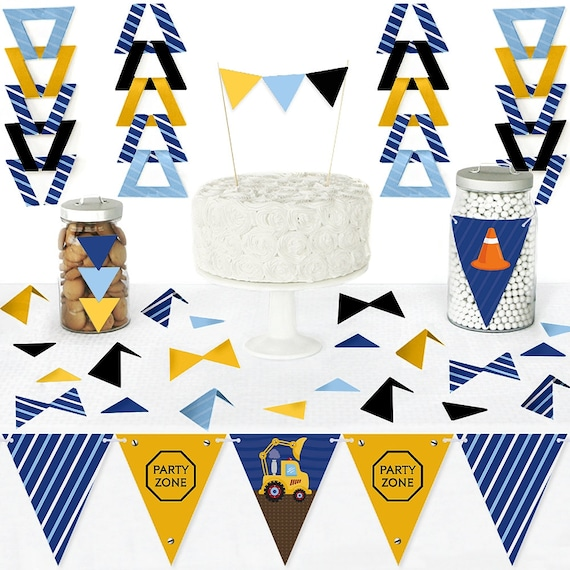 99 Pieces Barnyard Baby Shower or Birthday Party Triangle Kit Diy Pennant Banner Decorations Big Dot of Happiness Farm Animals