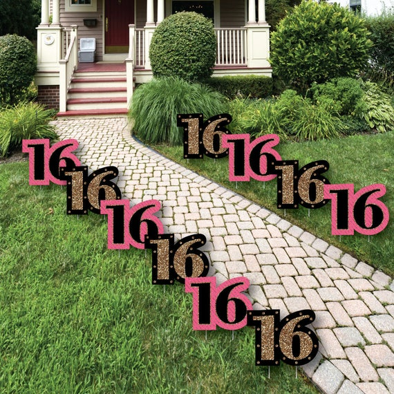 16th Birthday Lawn Decorations Outdoor Birthday Party