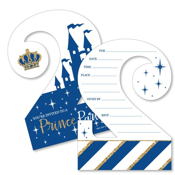 2nd Birthday Royal Prince Charming Shaped Fill In