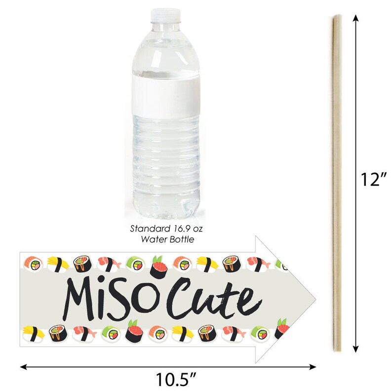 Funny Let/'s Roll Sushi 10 Piece Japanese Party Photo Booth Props Kit