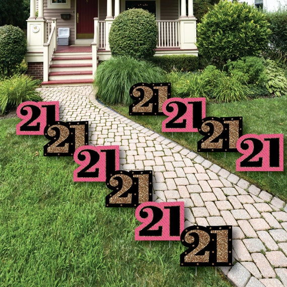 21st Birthday Party Lawn Decorations Outdoor Birthday Party Yard