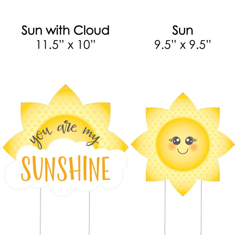 Lawn Decorations 10 Piece Set You Are My Sunshine Shaped Lawn Ornaments Outdoor Baby Shower or Birthday Party Yard Party Decorations