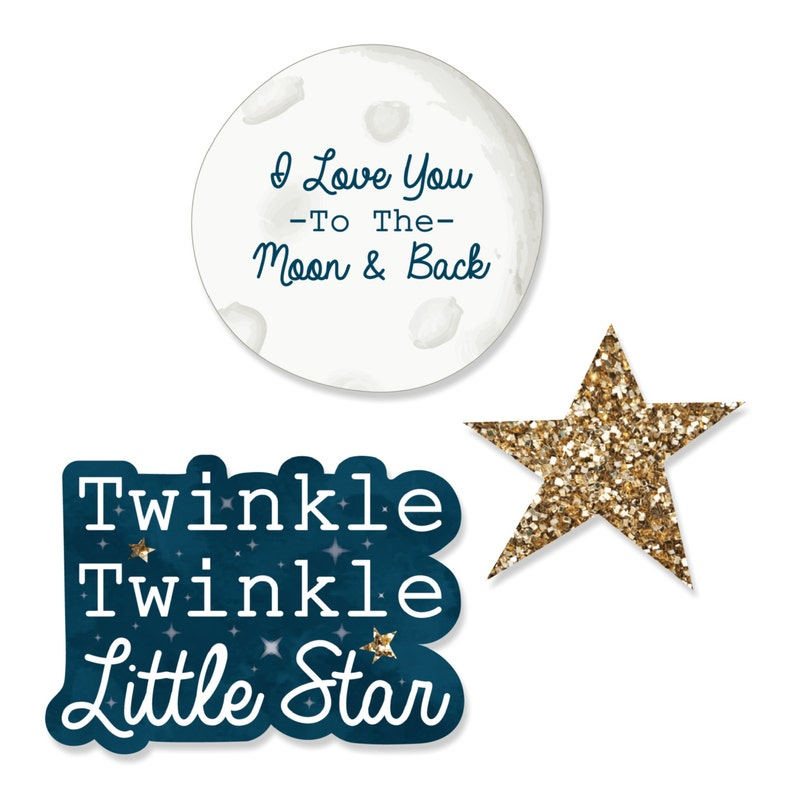 24 pc. Small Twinkle Twinkle Little Star  DIY Shaped Paper image 0