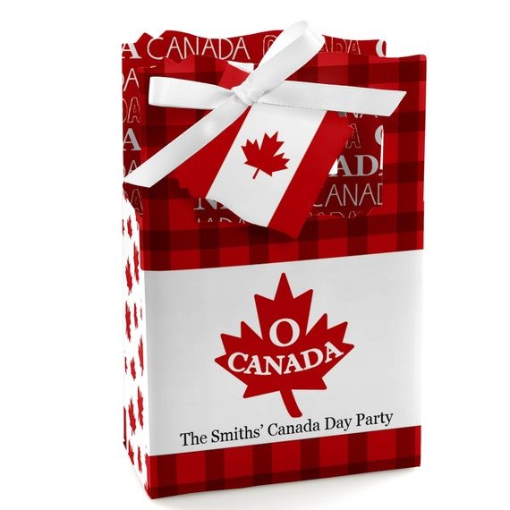 Canada Day Party Treat Boxes Canadian Party Table Decorations