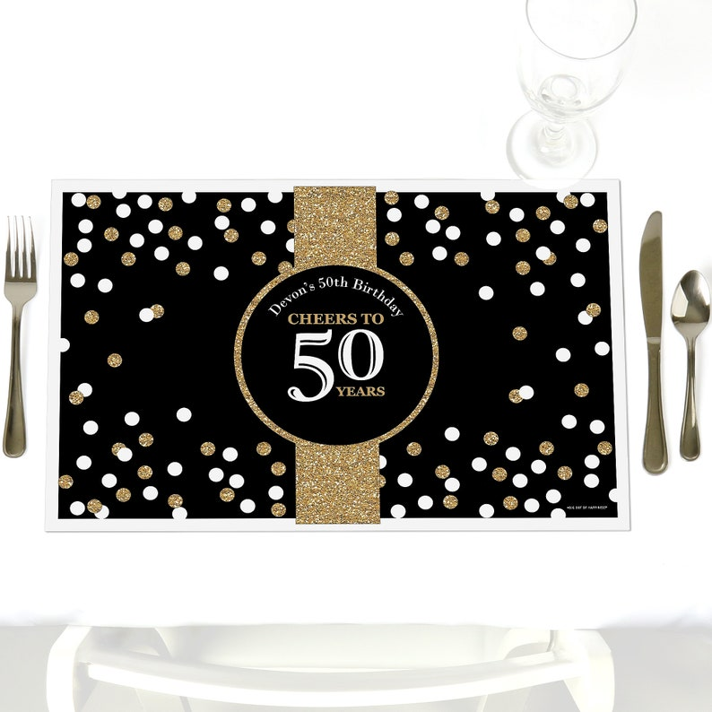 50th Birthday Party Table Decorations Adult