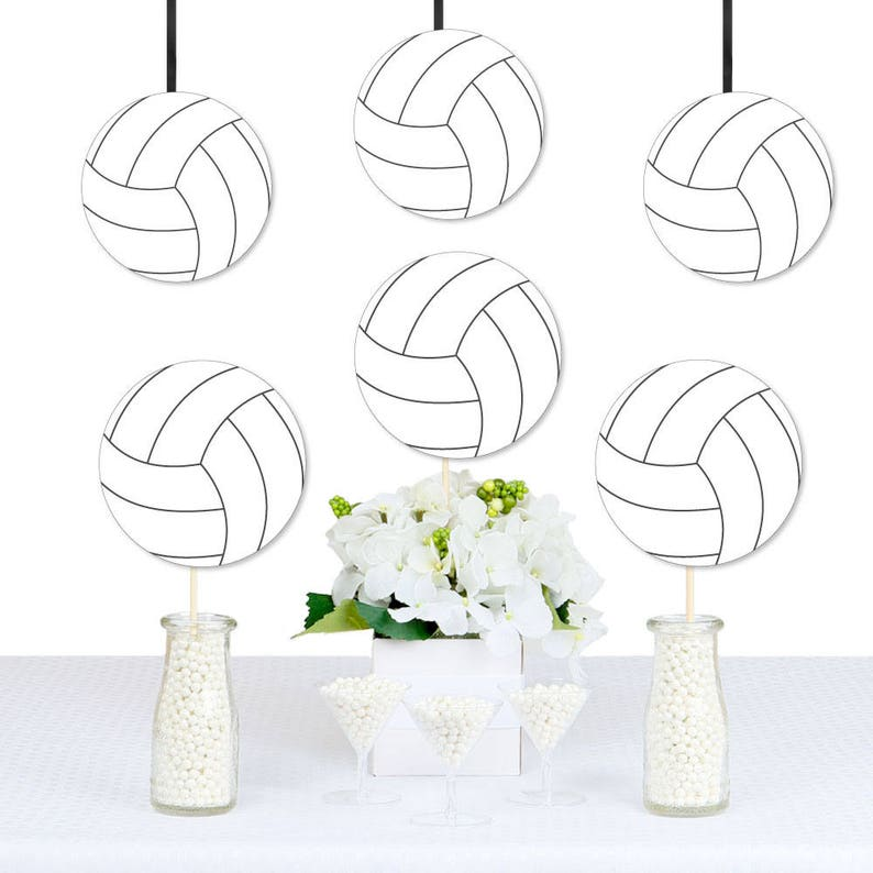Bump Set Spike Volleyball Diy Decorations Party Etsy