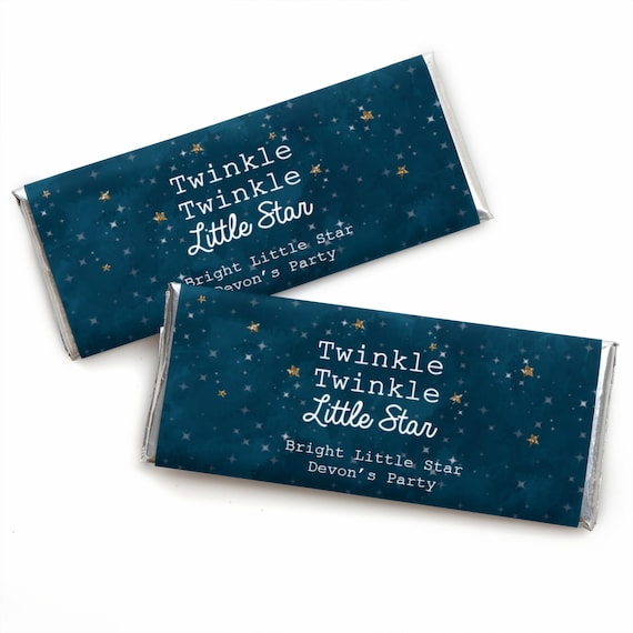 24 Twinkle Twinkle Little Star Custom Candy Bar Wrappers