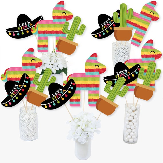Mexican Party Favor Boxes Mexican Fiesta Table Decorations Let/'s Fiesta Mexican Party Treat Boxes 12 ct. Cinco de Mayo Treat Boxes