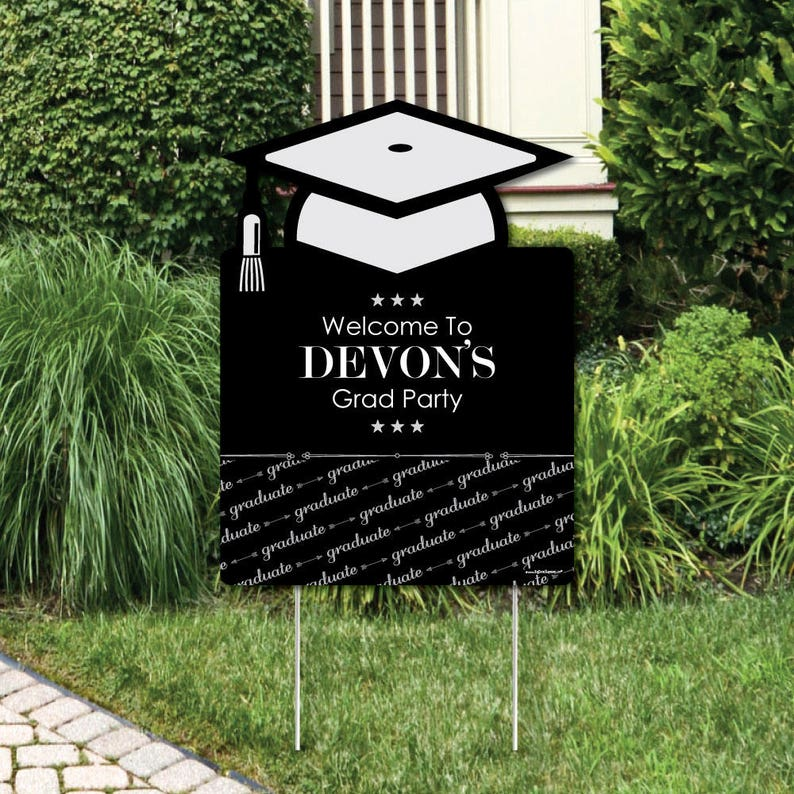 ed1a50a00959 Graduation Cheers Yard Sign Graduation Party Outdoor Lawn