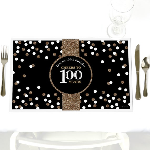 100th Birthday Party Table Decorations Adult