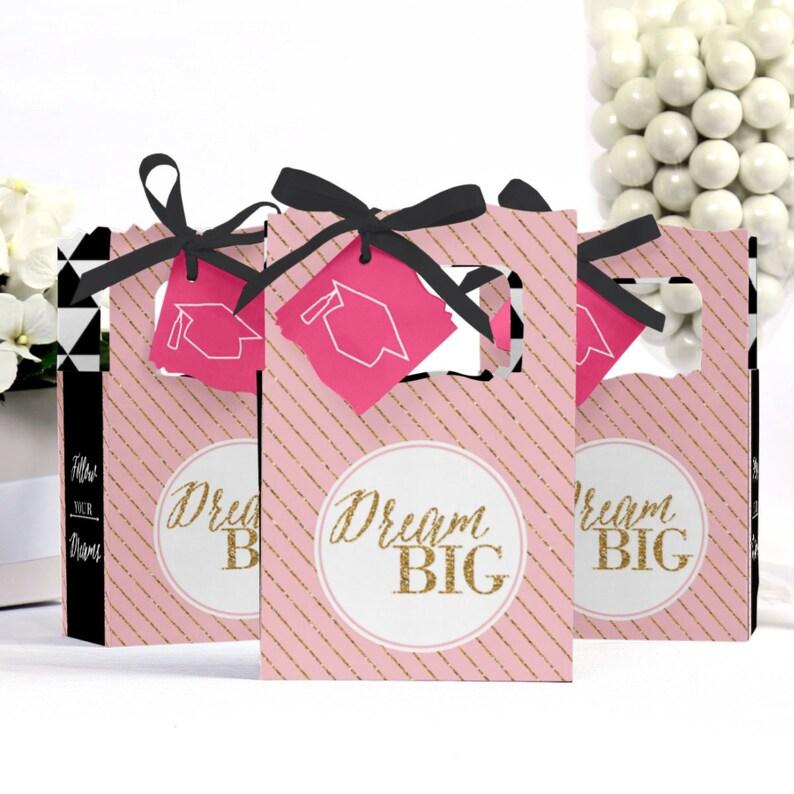 Personalized Graduation Favor Boxes Set of 12 Dream Big