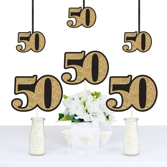 Adult 50th Birthday Gold DIY Decorations Party
