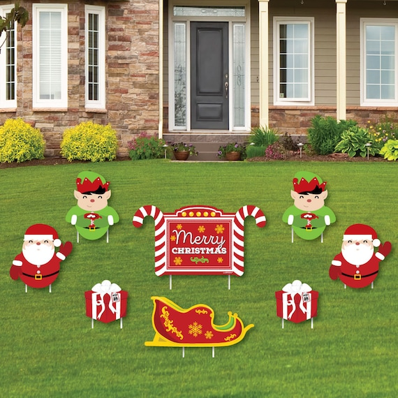 Jolly Santa Claus Shaped Lawn Decorations Outdoor Christmas