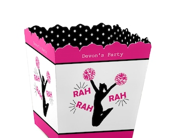 We've Got Spirit - Cheerleading - Party Mini Favor Boxes - Personalized Cheer Party Candy Box - Birthday Party Favor Box - 12 Ct