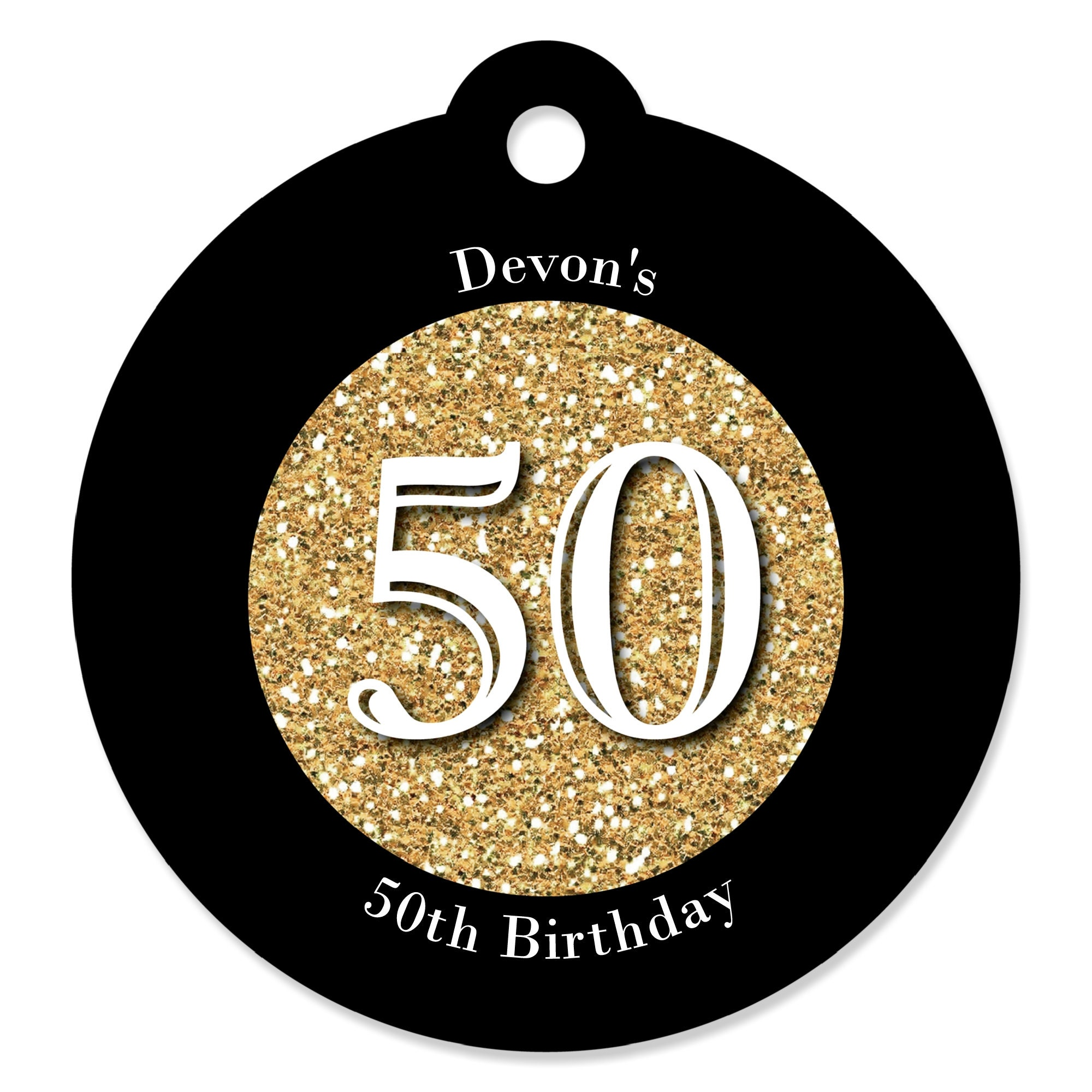50th Birthday Party Tags Adult 50th Birthday Gold Craft