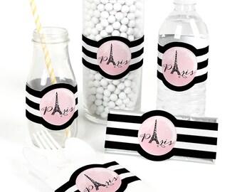 Paris, Ooh La La - Party Favor Wrappers - Party Supplies - 15 Count