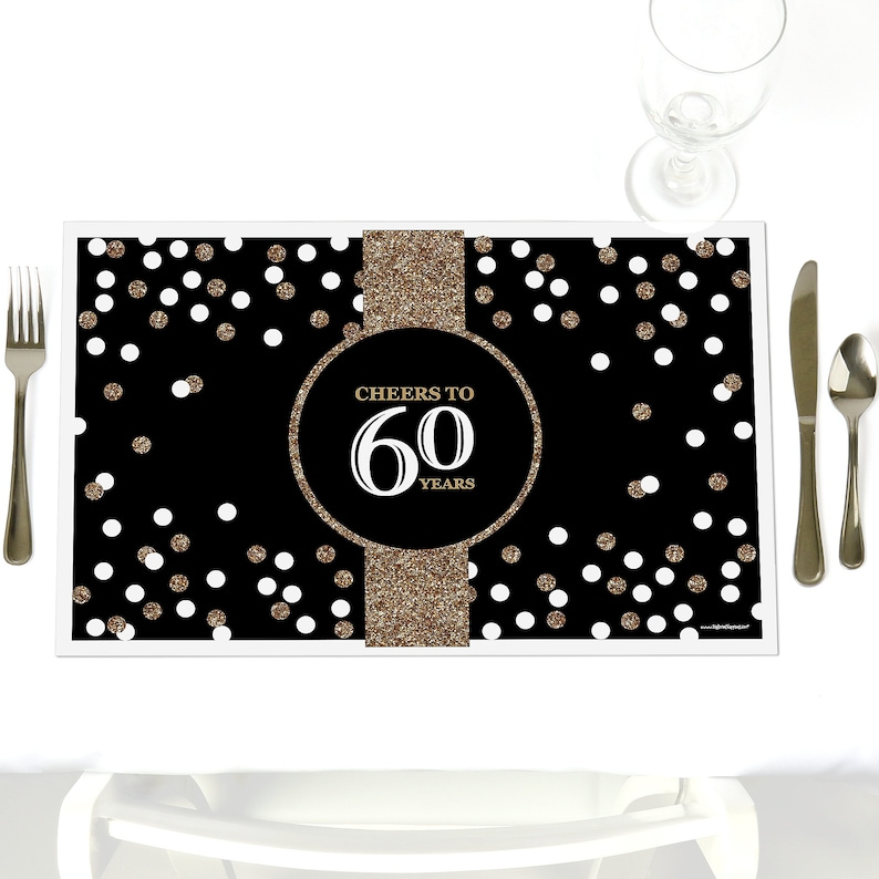 60th Birthday Party Table Decorations Adult