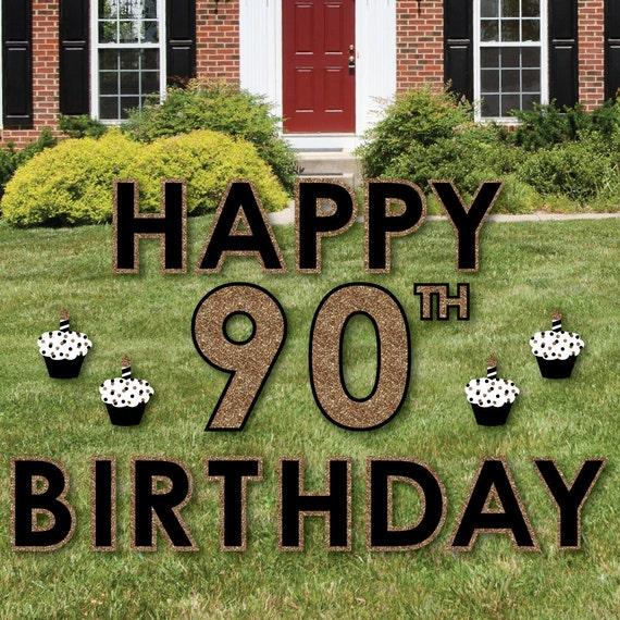 90th Birthday Yard Sign