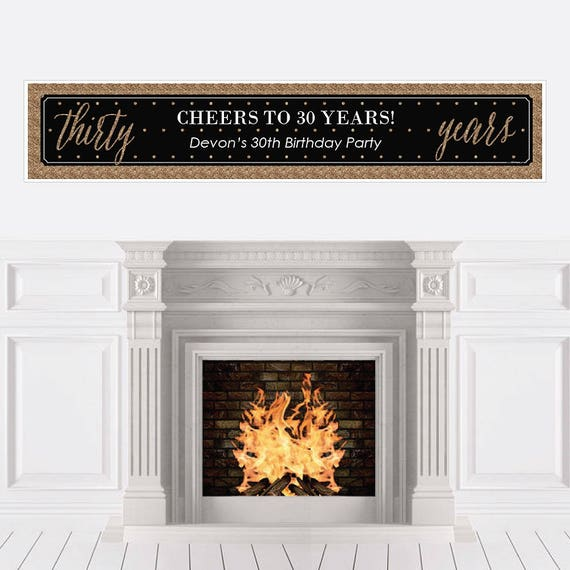 Chic 30th Birthday Party Banner