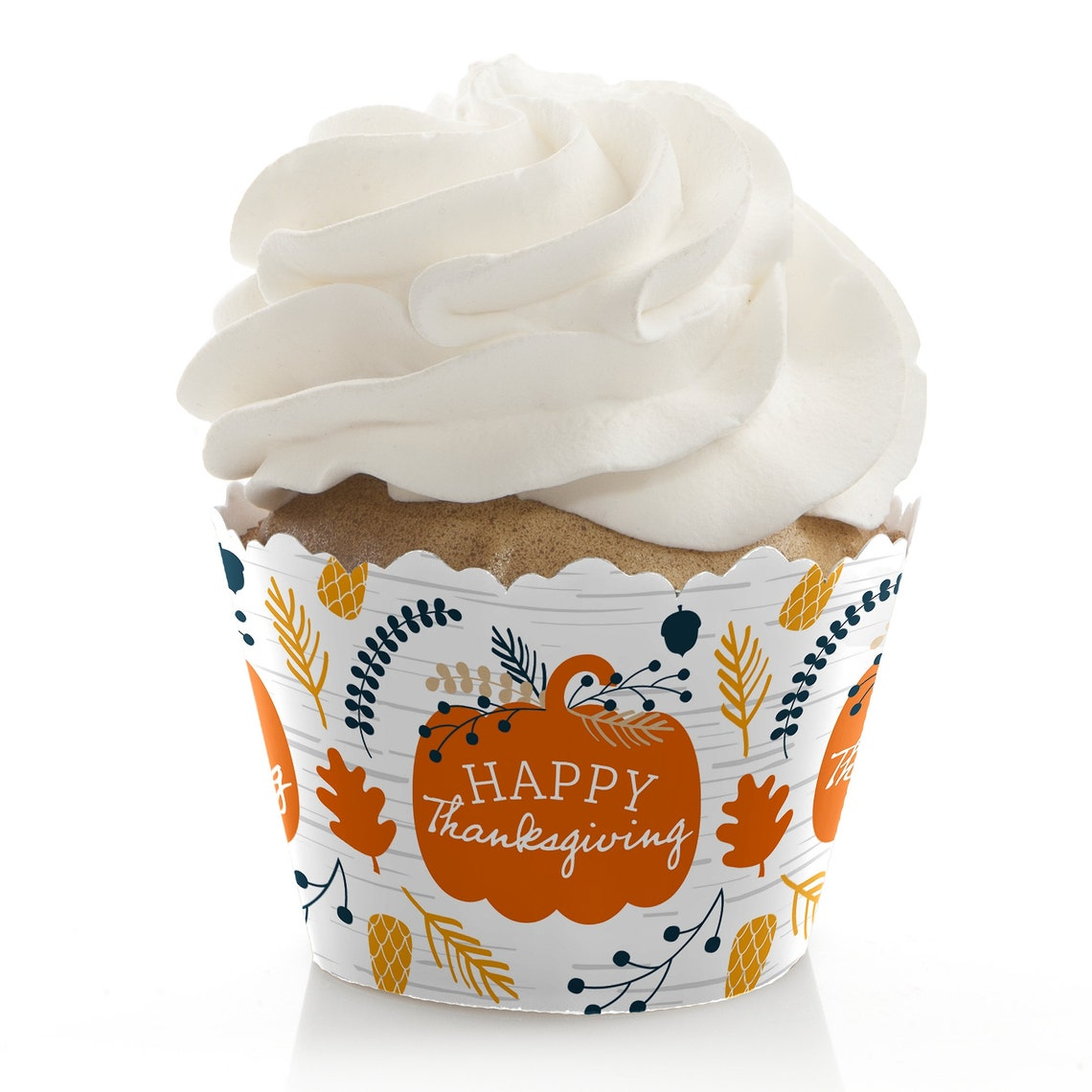 Happy Thanksgiving Party Cupcake Wrappers