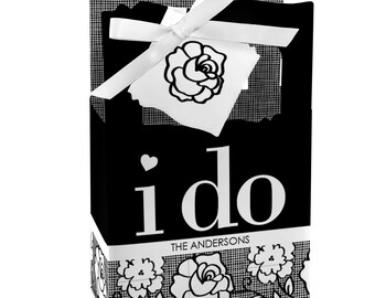 I Do - Personalized Wedding Favor Boxes - Custom Party Supplies - Set of 12