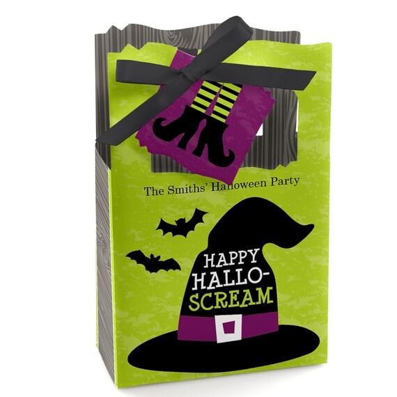 Halloween Ijs.Happy Halloween Favor Boxes Personalized Halloween Witch