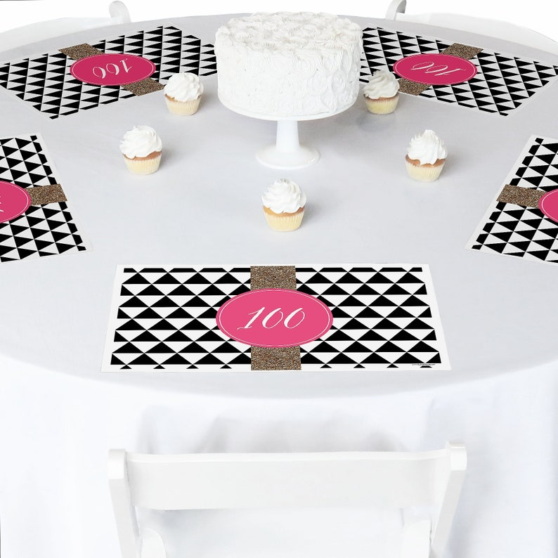 100th Birthday Party Table Decorations Chic
