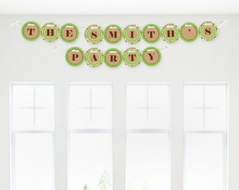 Pumpkin Patch - Fall or Thanksgiving Celebtration Garland Banner - Custom Party Decorations