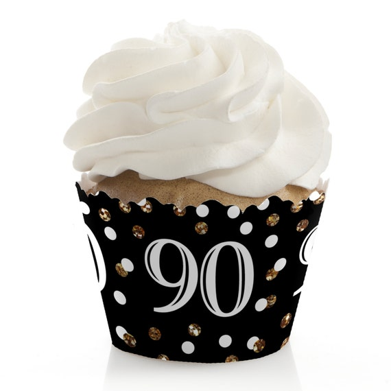 90th Birthday Cupcake Wrappers