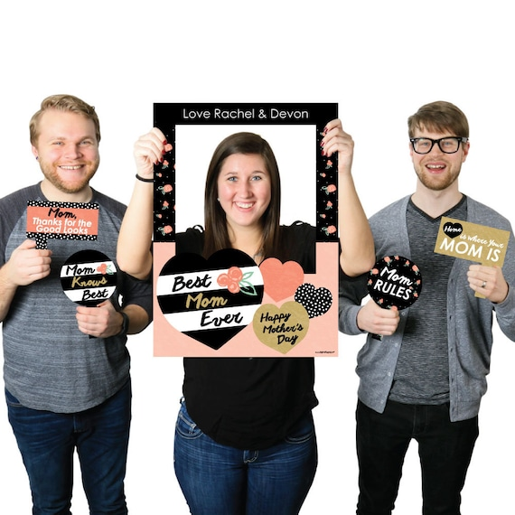 Best Mom Ever Personalized Mothers Day Selfie Photo Booth Picture
