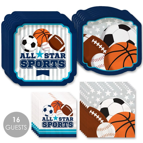 Sports Go Fight Win 16 Count Baby Shower or Birthday Party Luncheon Napkins