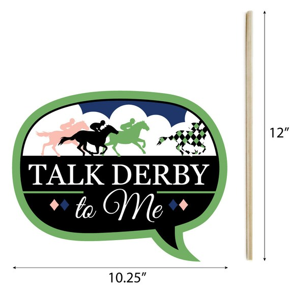44 Pieces Clothespin Garland Banner Kentucky Horse Derby Horse Race Party DIY Decorations